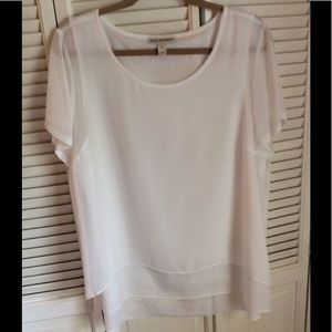 Dana Buchman white top XL